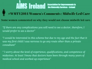 aims midwifer led care no