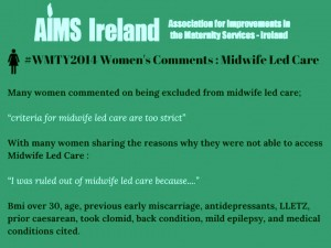 aims midwifery led care 1