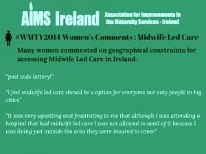 aims midwifery led care 2