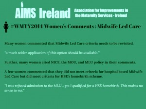 aims midwifery led care 3